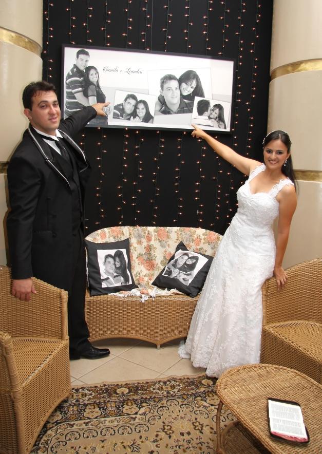 Painel e Almofadas com Fotos